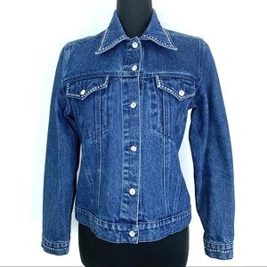 Christine Alexander Swarovski Crystal Denim Jacket
